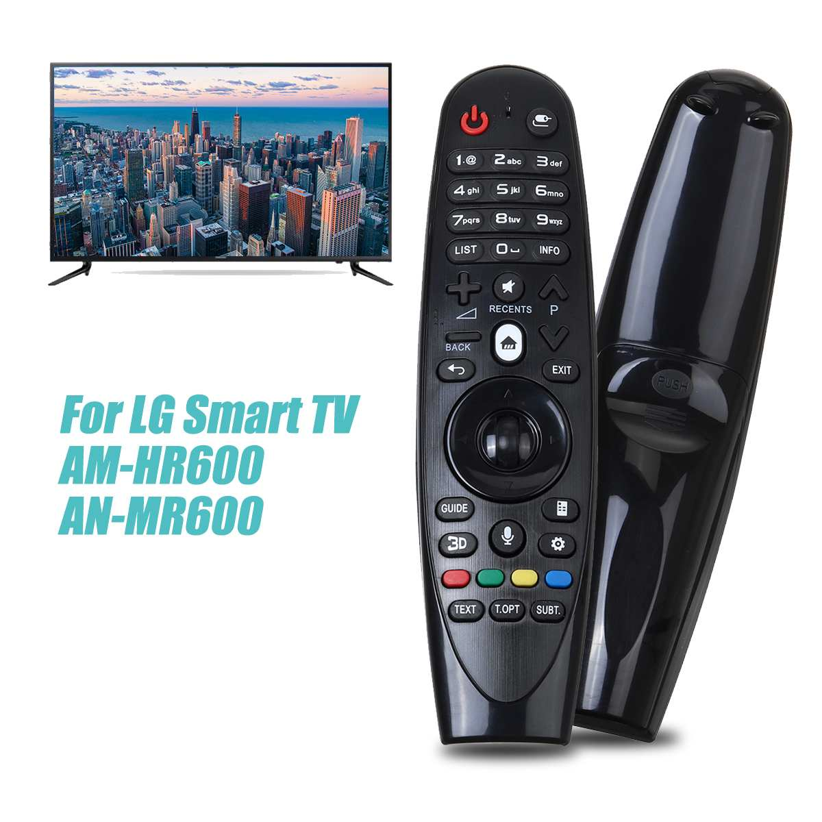 Inteligente inalámbrico mando a distancia de repuesto de TV sólo para LG AM-HR600 AN-MR600 para 2 * baterías AA (no incluidas)