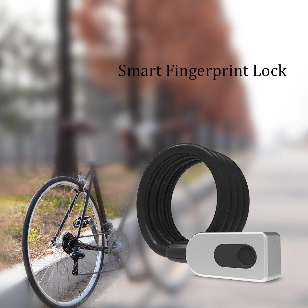 À prova dwaterproof água anti-roubo motocicleta bloqueio de bicicleta impressão digital bloqueio 20 conjuntos de impressão digital usb inteligente keyless bloqueio de impressão digital