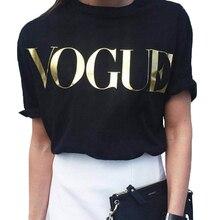 Vogue T-shirt Women Short Sleeve t shirt Fashion Korean Style Clothes Women Loose Black Top Tshirt Casual Tops t shirt for Women