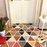 geometric pattern doormat entrance outdoorremove shoe mudwashable bedroom hallway long kitchen rug