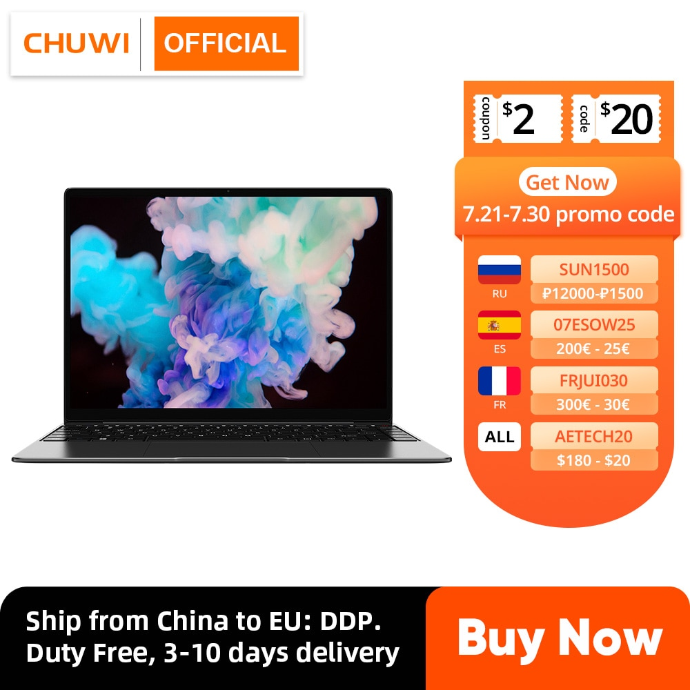 كمبيوتر الألعاب المحمول ، CHUWI CoreBook X ، إنتل كور i5-8259U ، 14 بوصة ، 2160x1440 القرار ، DDR4 8GB ، 512GB SSD ، Winddows 10 ، USB-C