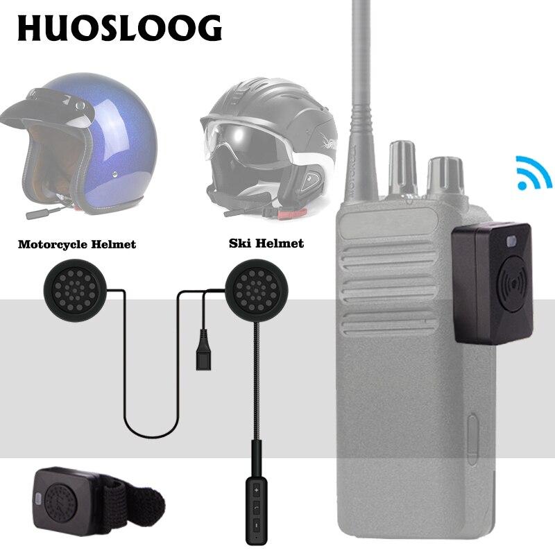 HUOSLOOG M enchufe Walkie Talkie casco Bluetooth auricular de esquí motocicleta de carreras o coche casco inalámbrico auricular para MOTOROLA