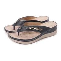 2021summer women fashion flip flops female sandals wedge thick bottom plus size shoes comfortable womens platform sandals