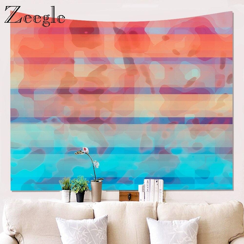 Zeegle floresta natural impresso grande tapeçaria de parede barato hippie tapeçarias parede tapeçarias poylester decoração da arte da parede tapete de piquenique