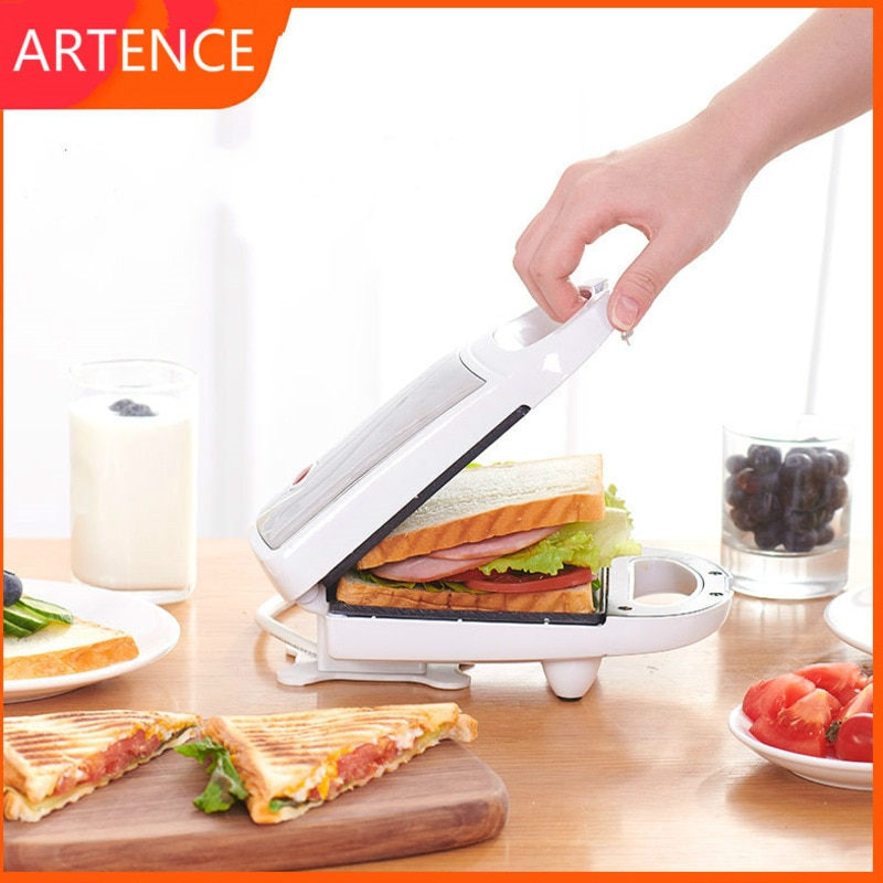 Sandwichera eléctrica de hierro multifuncional, máquina de desayuno de 220V, horno para...