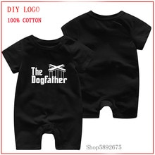 Summer Baby The Dog Father printed Romper 0-24M Age New Born Baby Girl Boy Clothes Romper 100% Cotto