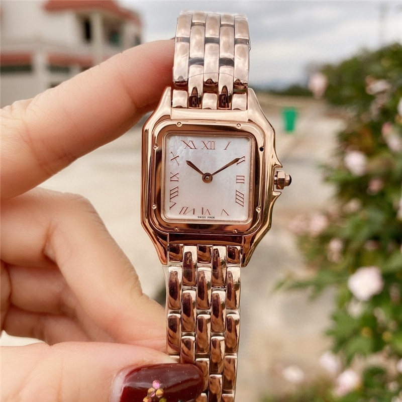 brand C watches thin watch 316L stainless case import movement high quality quartz rose gold watch for woman