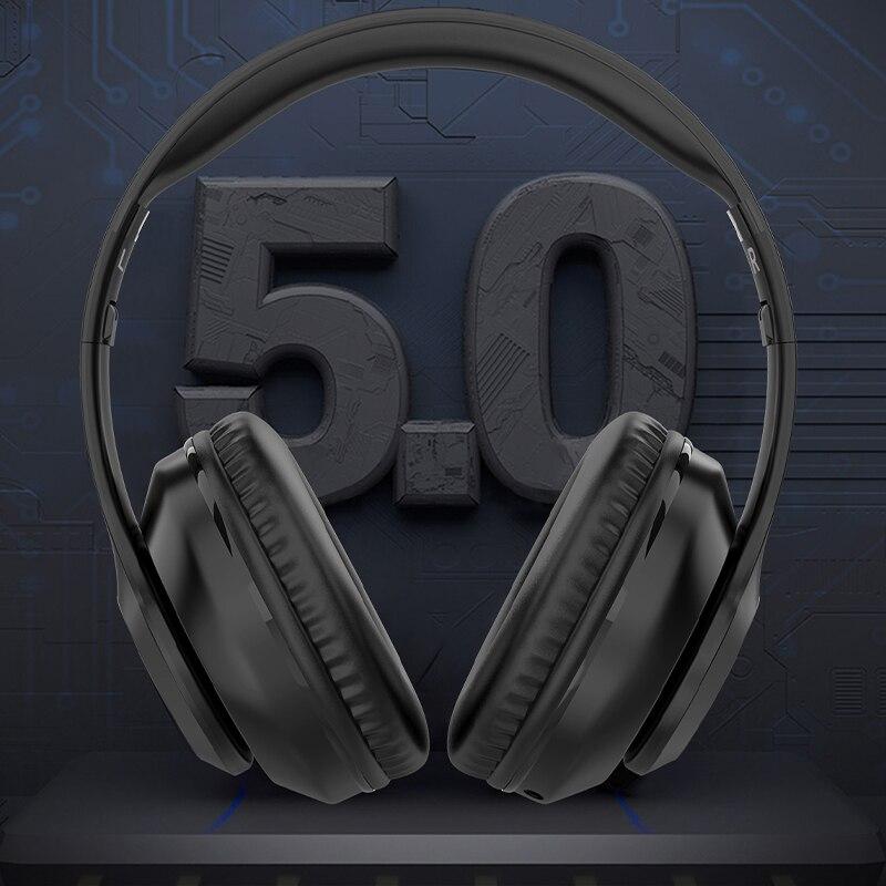 سماعات لاسلكية دعم TF بطاقة سماعات ستيريو HIFI Fone بلوتوث Helmets للهاتف المحمول سماعة الألعاب سماعة الرأس الوردي