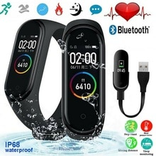 M4 Smart Watch Women Men Wristband Bluetooth Waterproof Heart Rate Monitor Bracelet Smart Band Smart