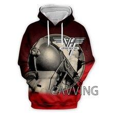 CAVVING 3D Printed  Van Halen Band  Hoodies Hooded Sweatshirts Harajuku  Tops Clothing for Women/men