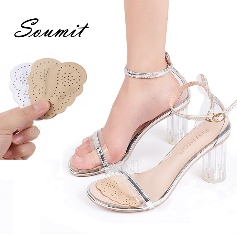Leather Non-slip Insoles for Women Sandals Sticker High Heel Shoes Self-adhesive Patch Cushion Foref