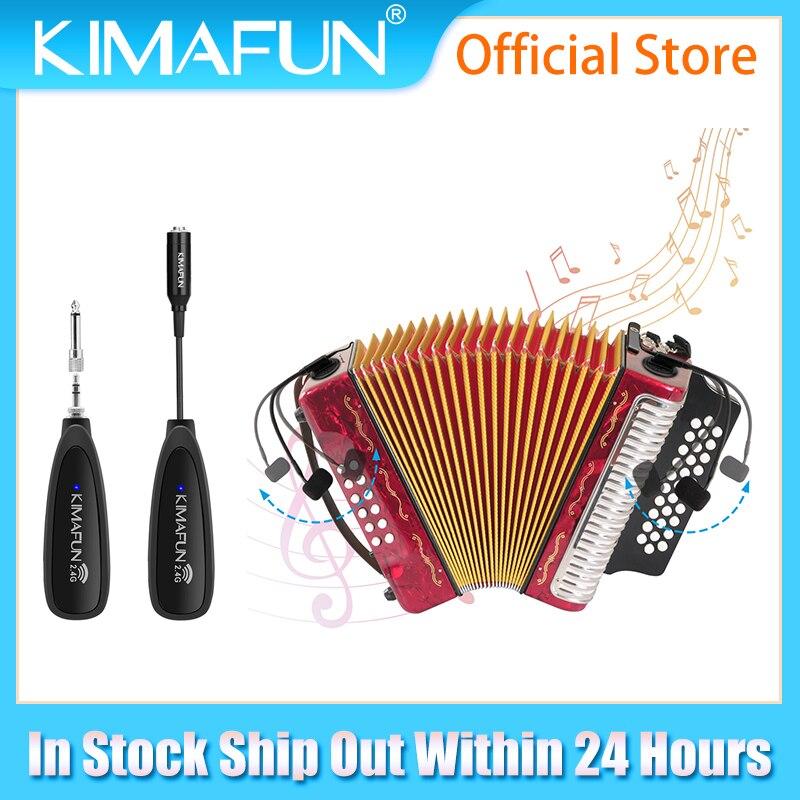 KIMAFUN KM-710 2.4G ميكروفون لاسلكي مصممة ل الأكورديون المهنية الموسيقية المكثف أداة عالية الدقة صوت Mic