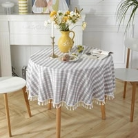 new tablecloth ins wind fresh plaid cotton and linen desk home decoration tablecloth tablecloth table mat