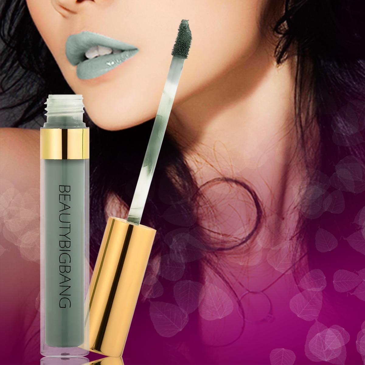Beautybigbang Sexy colores brillo de labios líquido tubo pintura mate lápiz labial impermeable de larga duración Kit de lápiz labial