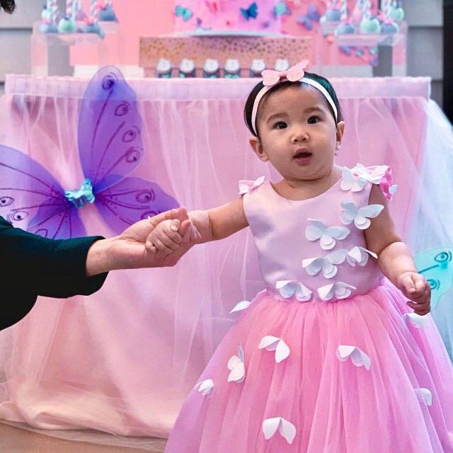Pink Tulle Flower Girls Dresses Ball Gowns Pink Girl First Communion Birthday Dresses Baby Girls Birthday Pink Dresses Custom enlarge