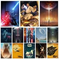 disney star wars anime canvas paintings jedi warrior poster and print yoda wall art picture cafe bar restaurant home decoration