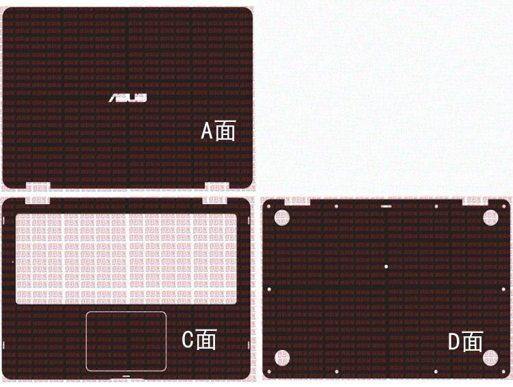 غطاء واقي من الجلد وألياف الكربون لأجهزة الكمبيوتر المحمول ، ملصق لجهاز Asus VivoBook Flip 14 TP401CA TP401NA TP401MA TP401 14