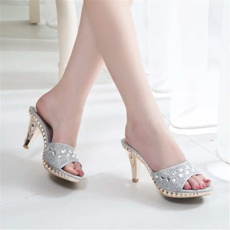 Reina De Cristal De Novia De Zapatos De Boda... Zapatos De Moda...