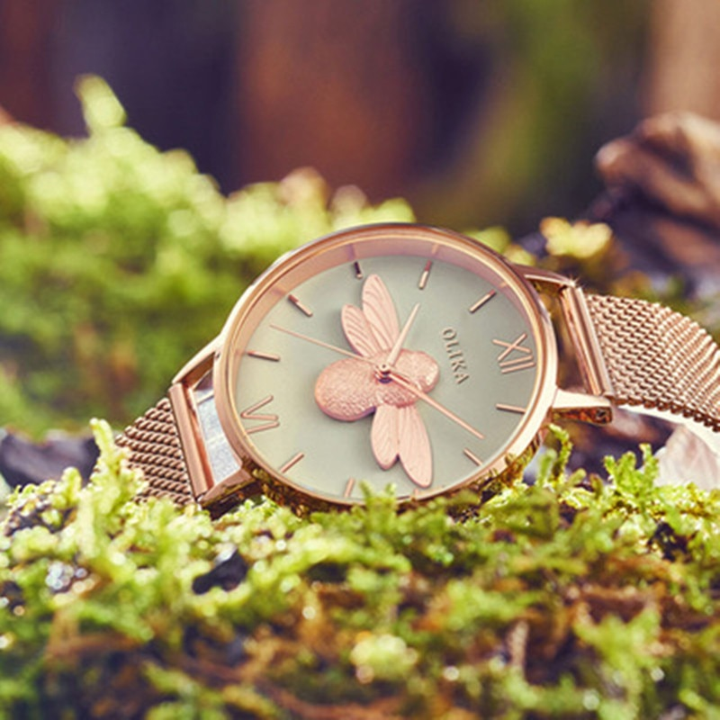 Fashion Lady Quartz Watch Women Rose Gold Stainless Watchband High Quality Casual Waterproof Wristwatch Gift enlarge