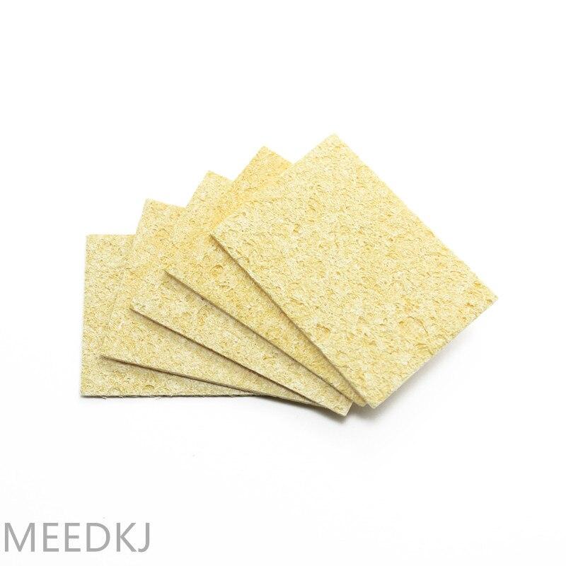 Soldador eléctrico de esponja resistente a altas temperaturas, esponja de limpieza de Punta rectangular de 3,5 CM * 5CM, 10 Uds.