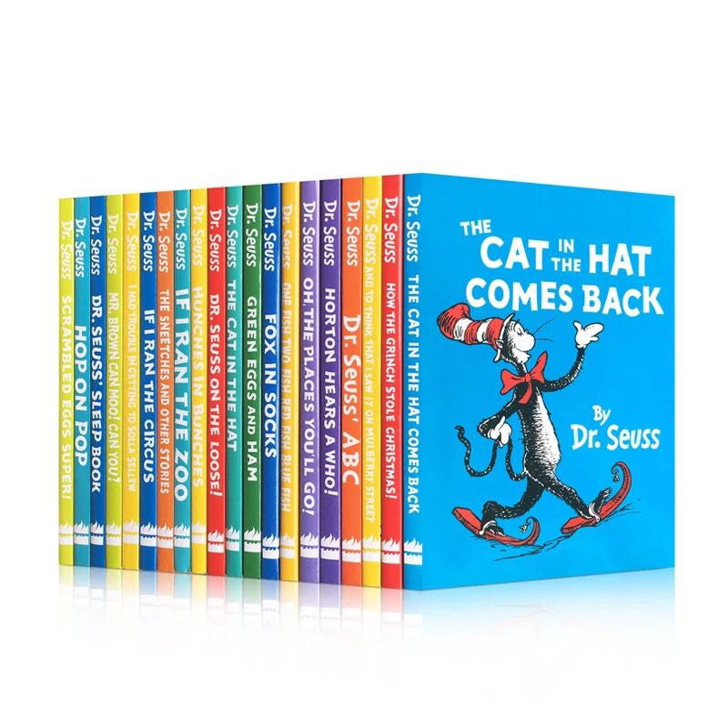 20 Books A Classic Case of Dr. Seuss Series Interesting Story Children's Picture English Books Kids Learning Toys Kids Children