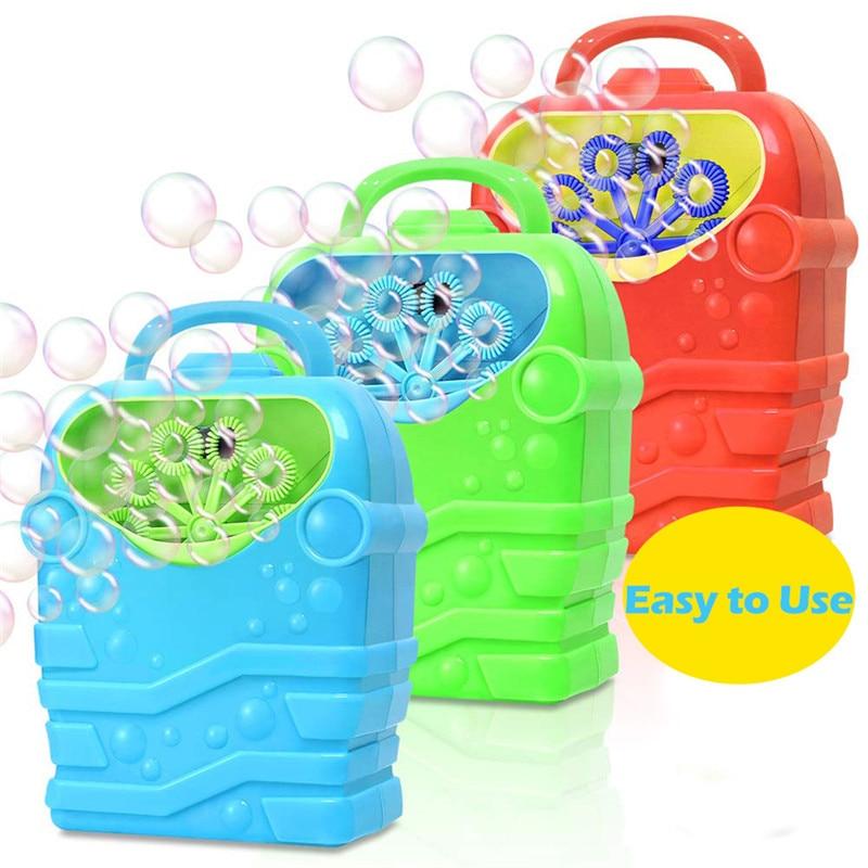 Портативная электрическая машина для пузырей, игрушка, автоматическая воздуходувка пузырей, уличная игрушка для девочек и мальчиков, мульт...