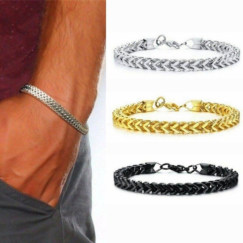 Mode Männer Schmuck Stilvolle Edelstahl Kette Armband Für Männer Bali Fuchsschwanz Kette Armband für Weihnachten Geschenke