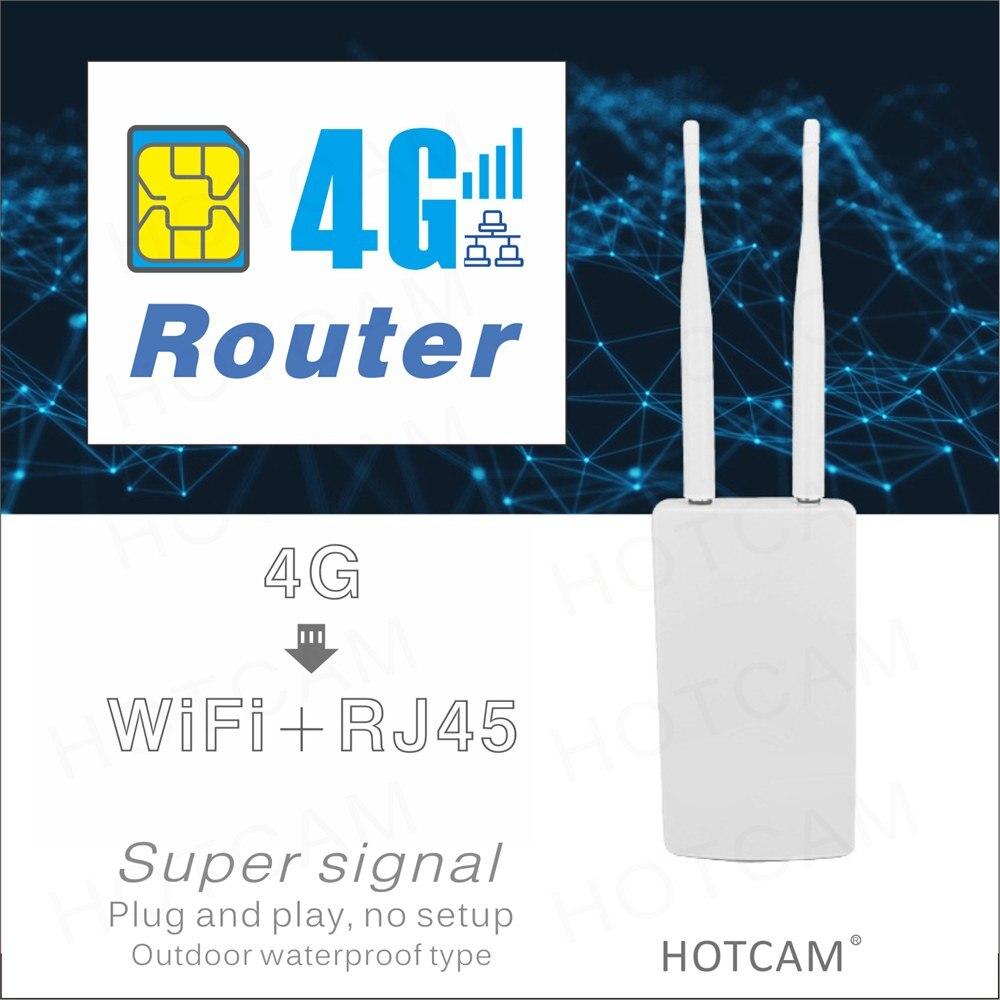 4G Router modem Dual Wlan LAN 2 RJ45 150Mbps CAT4 LTE signal WIFI wireless wired AP high gain sim IOT 5DB 2 External antenna enlarge