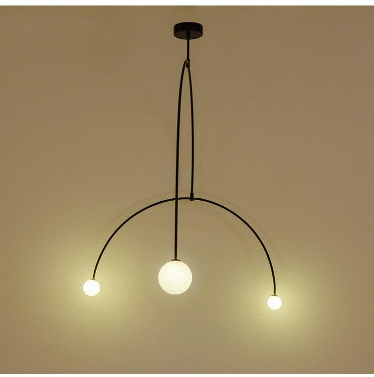 Lámpara de decoración artística, lámpara de araña larga con equilibrio de hierro de diseño escandinavo, lámpara colgante para sala de estar creativa y moderna para La habitación