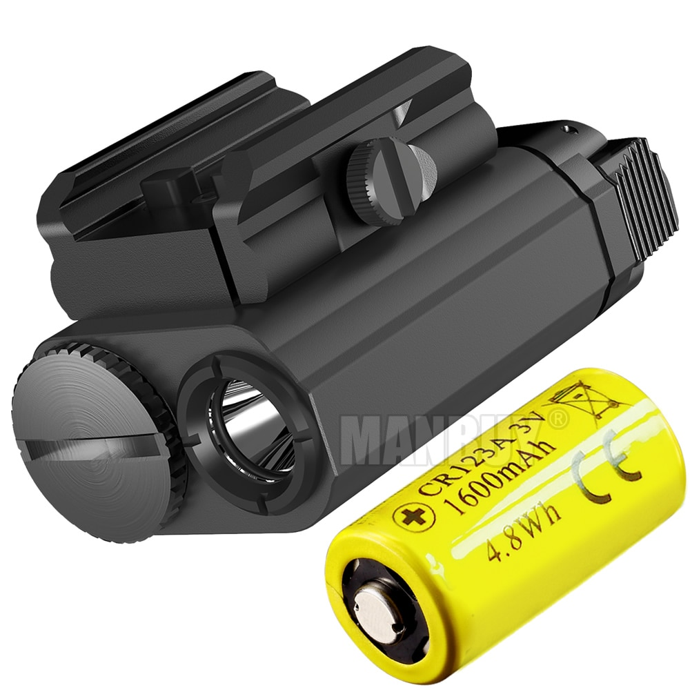 Original NITECORE NPL20 CREE XP-G3 S3 LED Weapon Light 1xCR123A Tactical Flashligh Universal Compact