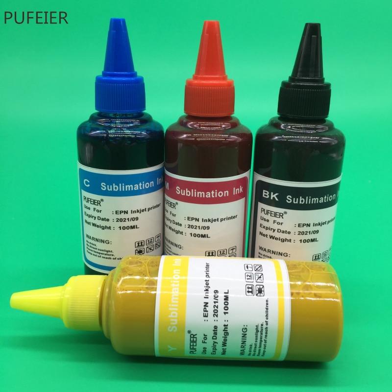 4 botellas T1281-T1284 de inyección de tinta de sublimación de tinta para Epson S22 SX125 SX420W SX425W SX235W SX130 SX435W SX230 SX440W BX305F BX305F