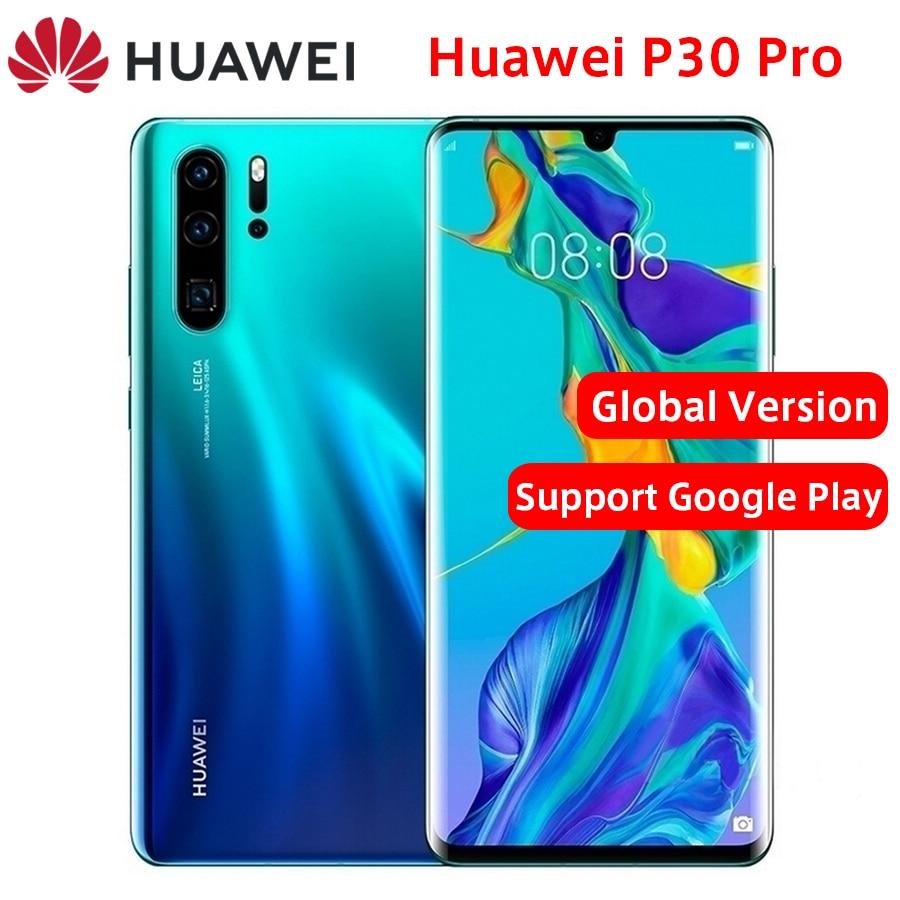 "Versão global huawei p30 pro lte telefone móvel 6.47 ""8 gb ram 128/256 gb rom kirin 980 octa núcleo android 9.0 impressão digital telefone"