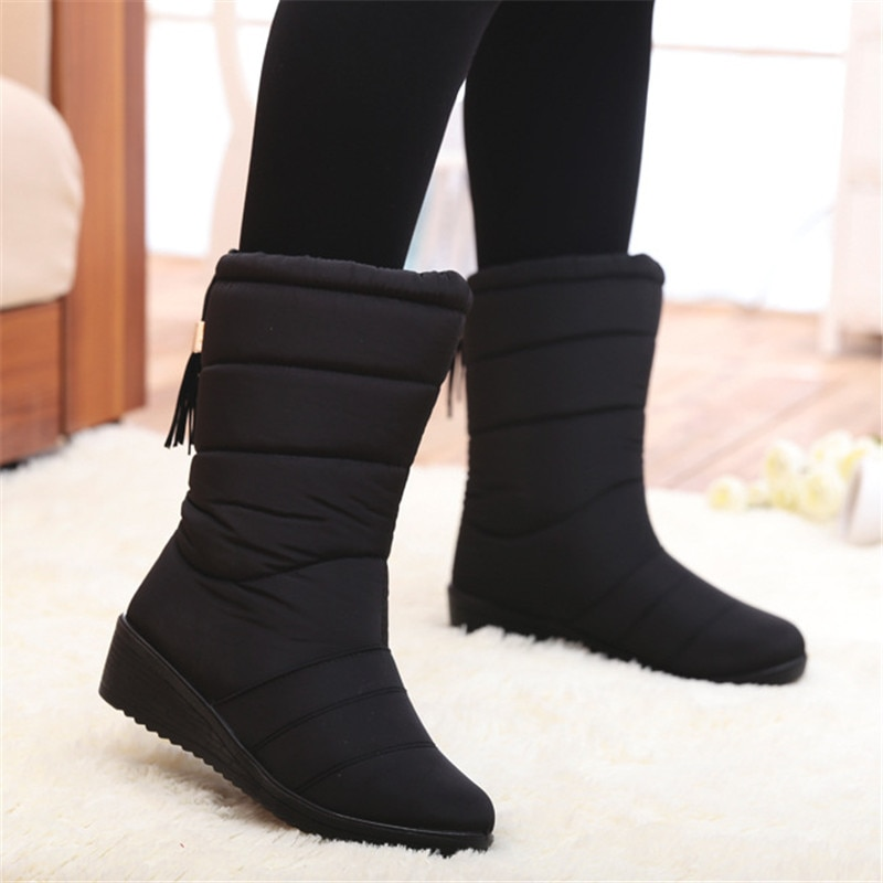 2020 Snow Boots Waterproof Ankle Boots For Women Boots Female Winter Shoes Women Booties Plush Warm