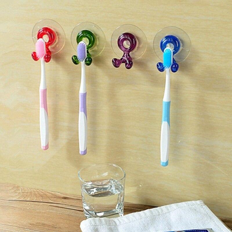 Nuevo soporte portacepillos de dientes bonito estante para maquinilla de afeitar organizador ventosa montado en la pared para baño VA88
