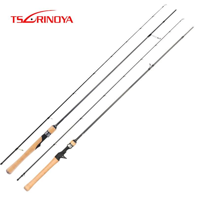Tsurinoya vara de pesca dragão 1.89/1.98/2.04/2.10m mf ultrelight l isca fundição fiação haste de carbono 2 seção isca peso 2-10g