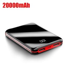 Mini batterie de puissance 20000 mAh 2 USB chargeur rapide Portable Powerbank batterie externe pour iPhone Xiaomi Mi appauvrbank