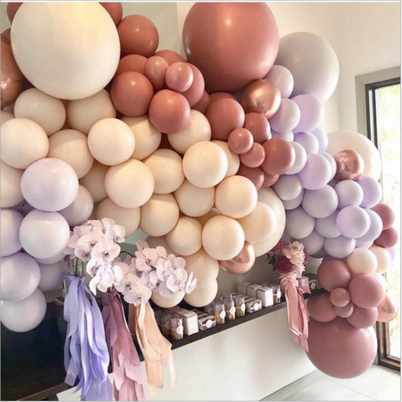 Candy Color Birthday Party Wedding Decoration Balloon Chain Holiday Event Venue Round Supplies Ballo