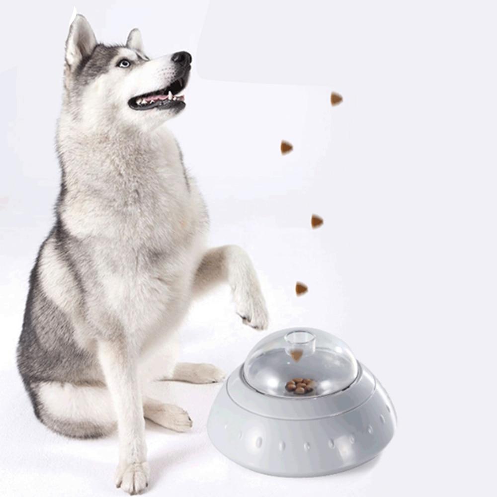 Comedero de perro automático juguetes divertido juguete rompecabezas lanzador de catapultas para perros juguete lanzador de alimentos interactivos para mascotas