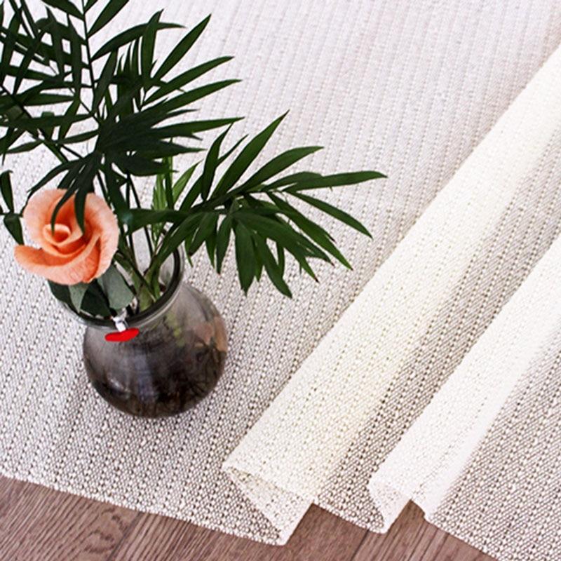 Tapete multifunción base de alfombra antideslizante tapete PVC manteles sofá hogar alfombra con cuadrícula Color sólido DNJ998