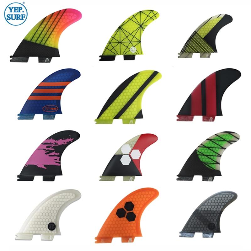 Juego de aletas Tri Surf FCS2 G5/G7/K2.1 FCS ii G5/G7/K2.1 aletas de Surf para tabla de Surf sup Tabla de fibra de vidrio panal