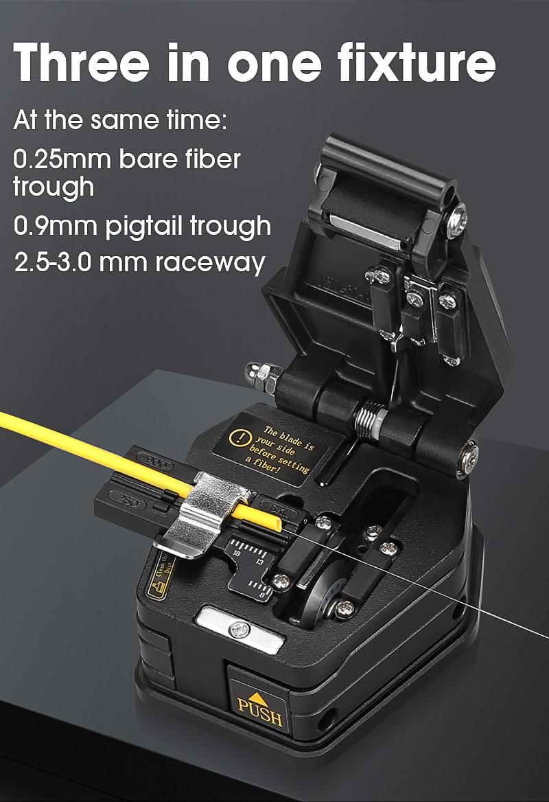 Fiber cleaver SKL-6C cable cutting knife FTTT fiber optic knife tools cutter Fiber Cleavers 16 surface blade enlarge