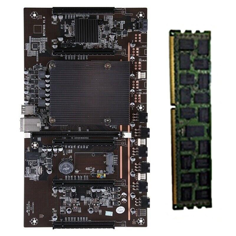 X79 H61 BTC التعدين اللوحة مع RECC 4G DDR3 الذاكرة LGA 2011 DDR3 دعم 3060 3080 بطاقة جرافيكس ل BTC مينر