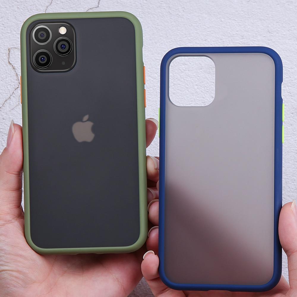 Funda transparente para iPhone 11 Pro Max XR XS X 7 6 6s 8 Plus funda para iPhone 11 Pro Max 11 XR funda acrílica mate