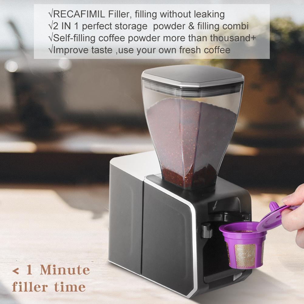 علبة تخزين مسحوق شبه التلقائي ماكينة حشو القهوة حشو لكوب Keurig K