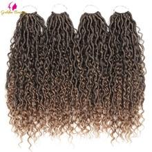 Goddess Locs Crochet Hair Extensions Synthetic Twist Braids Hair Locks Crochet braids For Women 24 Strands 14inch 18inch Beauty
