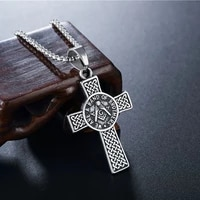 2020 new classic cross men necklace stainless steel chain pendant necklace for men fashion vintage jewelry gift