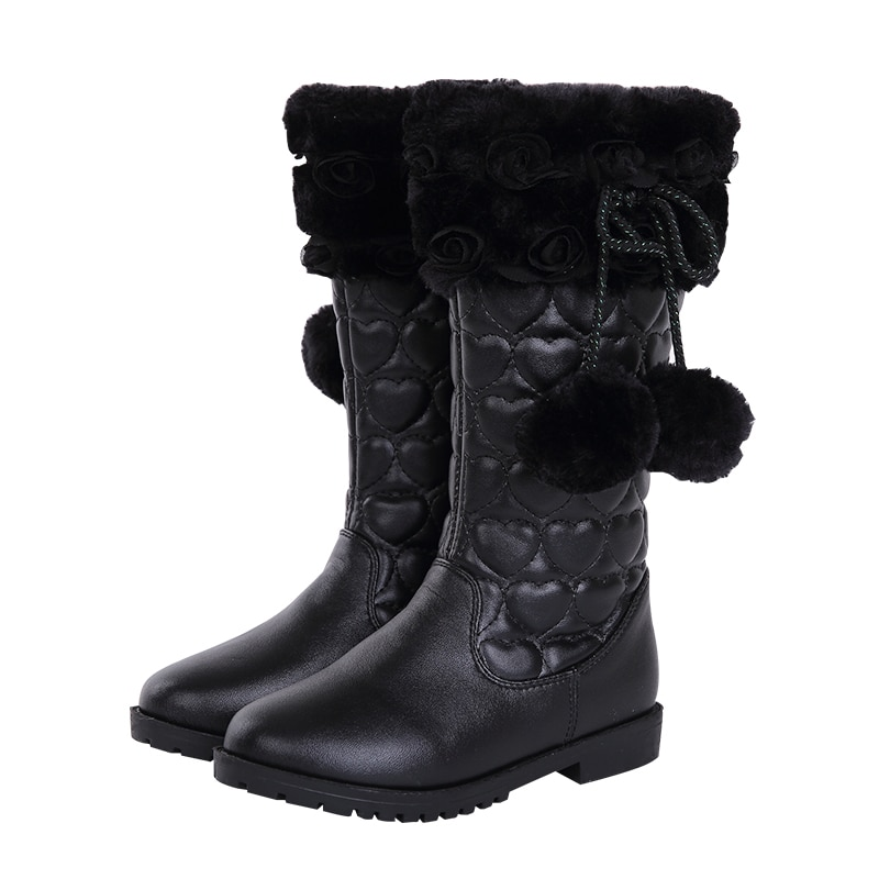 4-12 years children's shoes winter boots pink shoes fashionable girls' boots Christmas gifts warm cotton boots snow boots enlarge