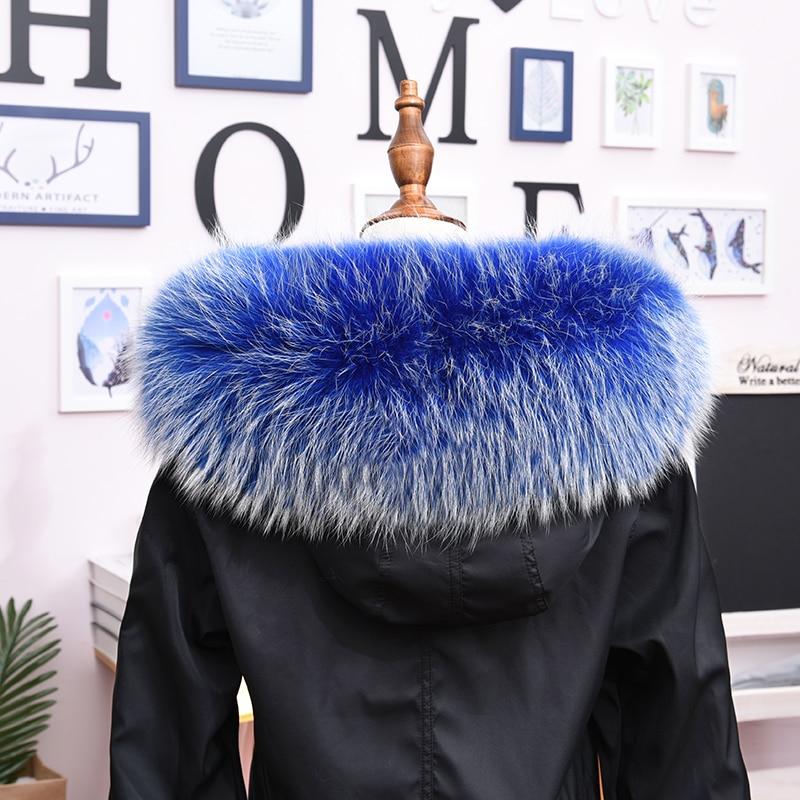 Custom Made Whole Skin Real Fur Super Large Fox Raccoon Dog Feather Collar Down Jacket Cap Strip Star Style Single Buy Women's v