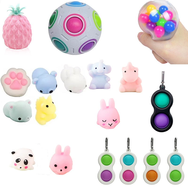 Fidget Simple Dimple Toy Fun Soft Pineapple Anti Stress Ball Reliever Toy For Children Adult Fidget Squishy Antistress Toy enlarge
