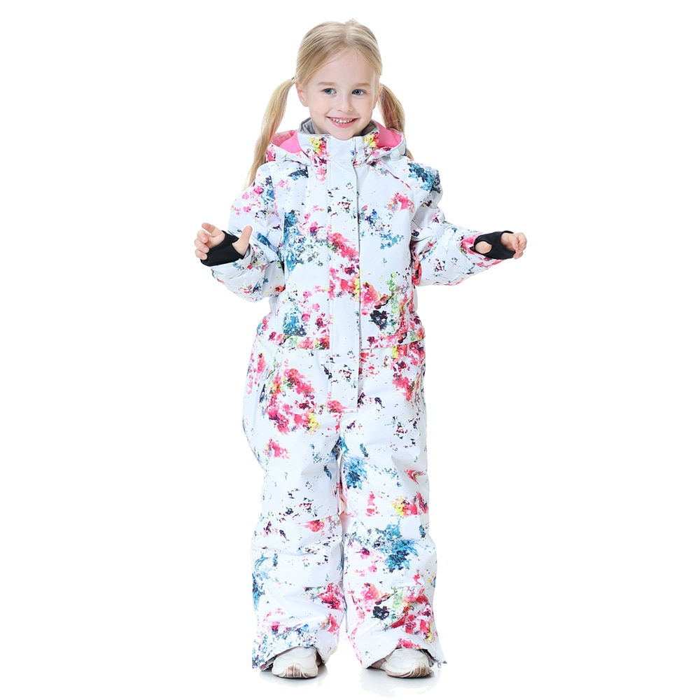 New Girls Ski Suit Kids Thick Warm Waterproof Windproof Skiing And Snowboarding Jacket Pants Set Winter Outdoor Snow Costumes winter thick warm ski suit women waterproof skiing and snowboarding jacket windproof pants set female snow costumes outdoor wear